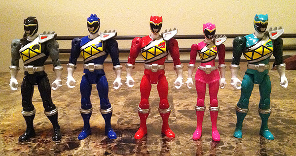 no pink spandex power rangers dino charge toy review 5 action figures awwman